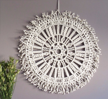 Macrame Wall Hanging Large Macrame Wall Hanging Macrame Wall Art Circle  Wall Art Boho Decor