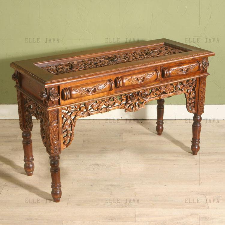 Old Teak Wood Hand Carving Furniture Consle Table Antique