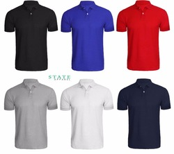 3 Pack Men's Polo Shirt Plain T Shirt Blank Short Sleeve Shirt,NEW