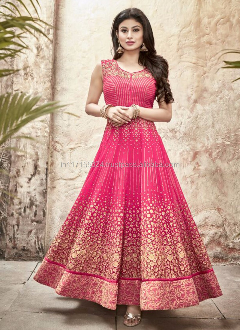 5eb3bc364a Pink wholesale latest anarkali salwar kameez - Pakistani long wholesale  stylish anarkali dress - Ethnic wear anarkali suits