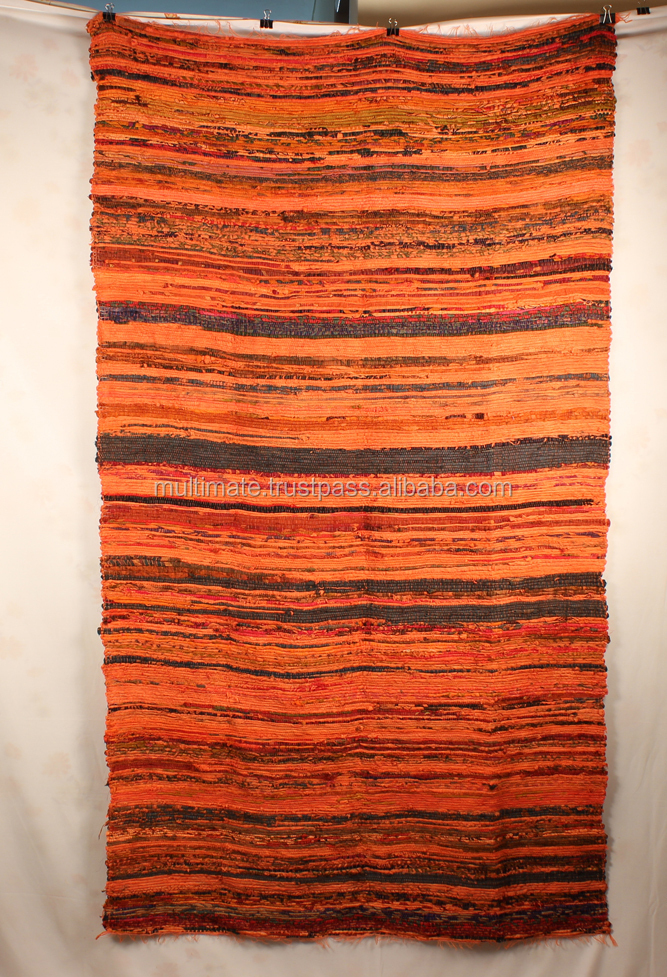 Cheap Recycled Fabric Sari Rug Vintage Colorful Home Decor