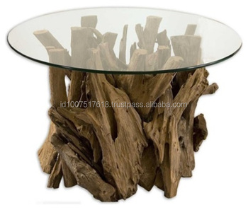 PITRY TEAK ROOT COFFEE TABLE