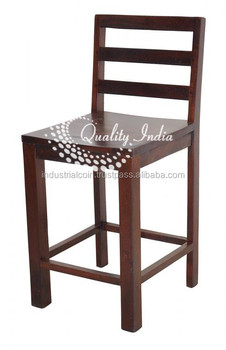 wooden simple design back rest heighted bar chairs buy bar height