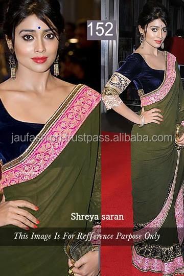 Pakistani Saree Coton Soie Bollywood Indian Designer sari ethnique traditionnelle SV