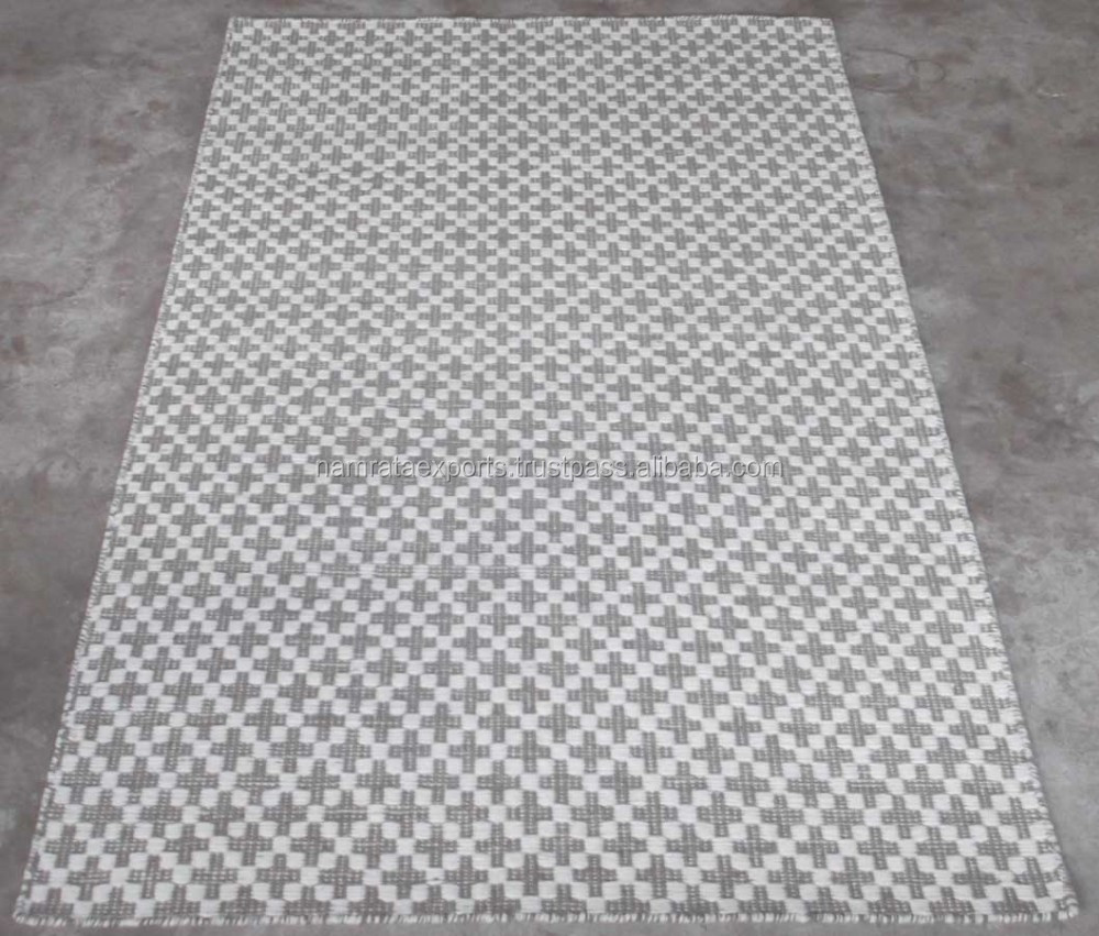 Best Quality Hand Woven Flat Weave Wool Rugs From India