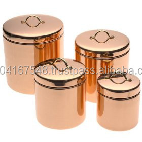 Kitche Canisters, Rose Gold Color Copper Canisters, Elegant Copper Canisters,  Copper Jars,