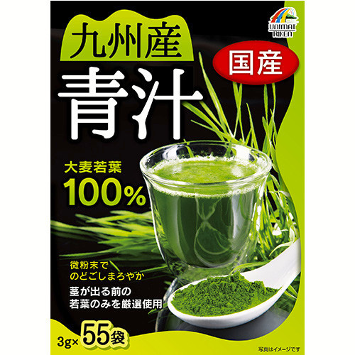 KYUSYU Barley Grass Powder Green Juice 100% 3g x 55 packs Made in Japan