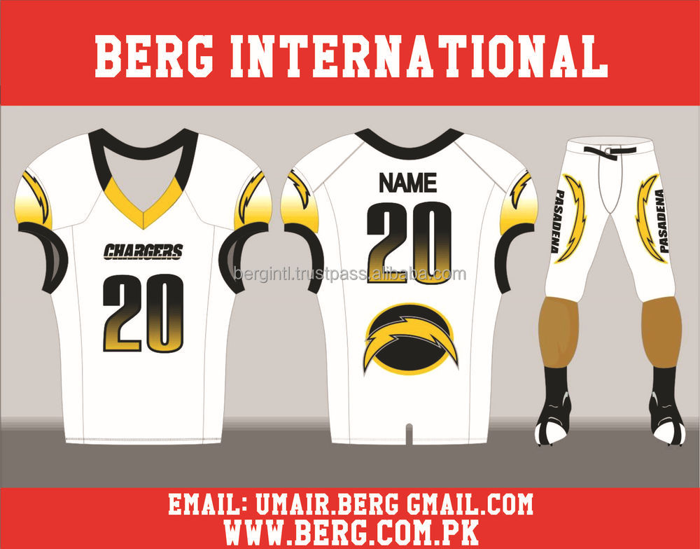 4520cc8c1 Best 2016 customized sublimation American football jerseys uniforms At Berg