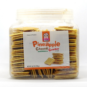 Natural pineapple jam 40% with salt cheese cracker Halal biscuits