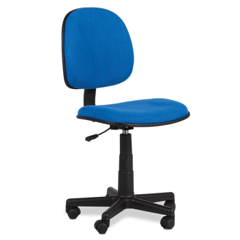 Merveilleux Middle Back Ergonomic Armless Desk Computer Office Fabric Swivel Working  Chair With PP Base Carmen 6066