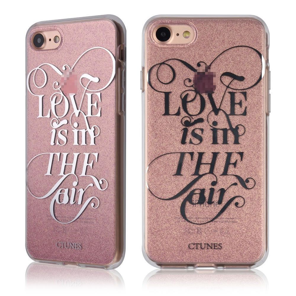C&T Double Side IMD Glitter Hard Tpu Slim Bling Protective Phone Cover for Apple Iphone 7 4.7