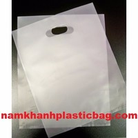 LDPE poly clear strong best price degradable die cut bag frosted