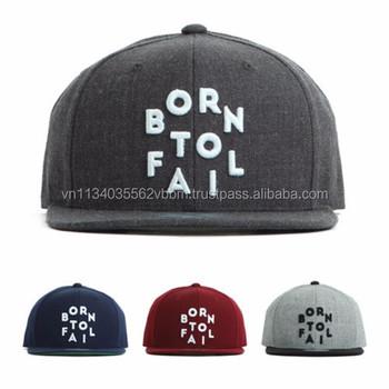 3a123c5fe6f93  FL001-FL004  FLIPPER BORN TO FAIL snapback cap embroidered design  Premi3r  brand