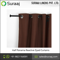 Best Quality Half Panama Reactive Dyed Curtains from Reputed Exporter