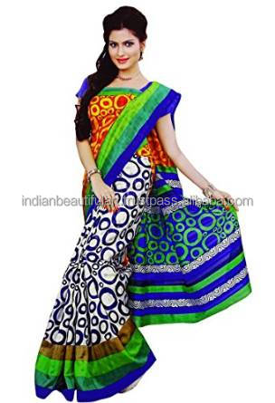 Indian Designer Saree Ethnic Party Wear Art Silk Sari Bollywood Wedding Dress NSR2609B