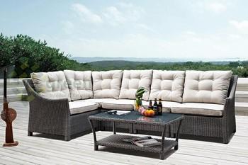 Evergreen Wicker Furniture   High Back Rest Modular Sofa   Modular Sofa  Coffee Table   Outdoor