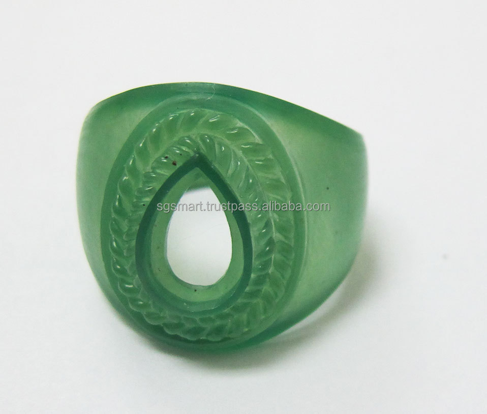 Silver Turkish Jewelry Ring with Stone Wax Design Wholesale Factory in Thailand
