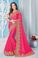 Gorgeous Moti Work And Zari Work Wholesale Party Wear Saree Catalog Exporter