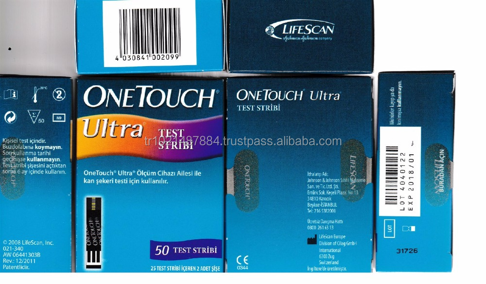 ONE TOUCH ULTRA GLUCOSE 50 TEST STRIPS