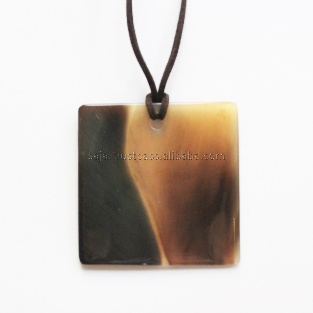 Natural buffalo horn pendant SHP-753, buffalo horn jewelry from Vietnam manufacturer