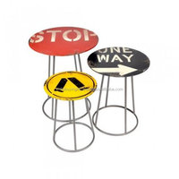 Latest Design Classic Vintage Industrial Round Top Multi Colored Bar Stool long Stool in Multi Purpose