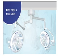 Two branches ceiling surgical lights
