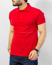 printed polo shirt 2017 men plain red short sleeve polo shirt custom T shirt polo design