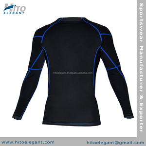 High Performance Compression Long Sleeve Shirt - Plain Rash Guards AA-1701-CS
