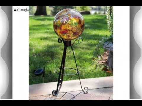 Tall Solar Gazing Ball Stand