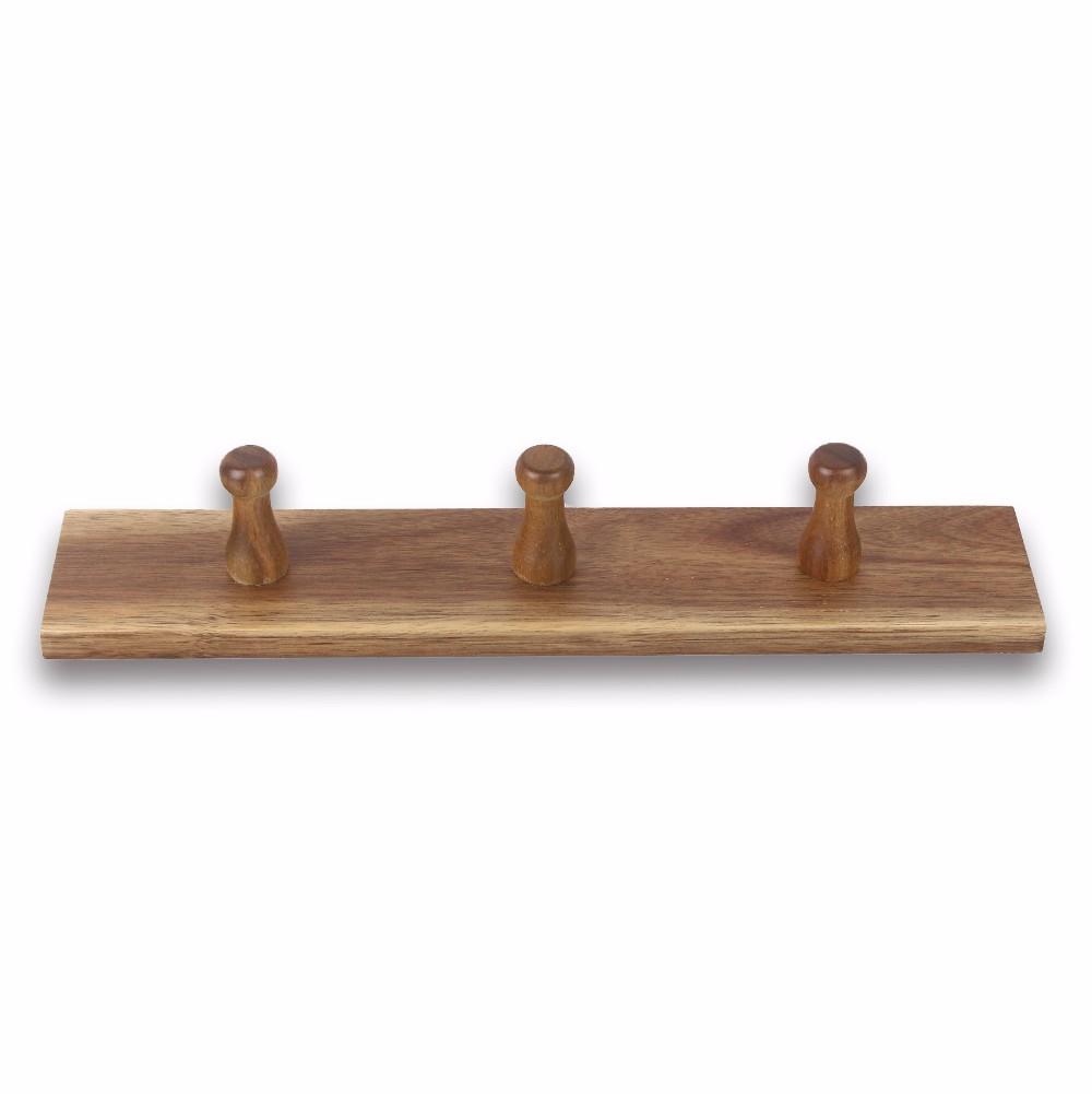 3 Pegs In Einer Reihe Holz Kleidung Haken Zum Aufhängen Buy Holz