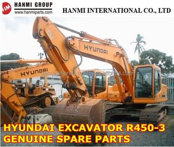 GENUINE HYUNDAI SPARE PARTS FOR EXCAVATOR R450-3 (ENGINE PARTS, FILTER, TRAVEL
