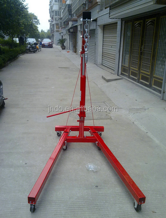 2 ton folding manual hydraulic jack hoist crane