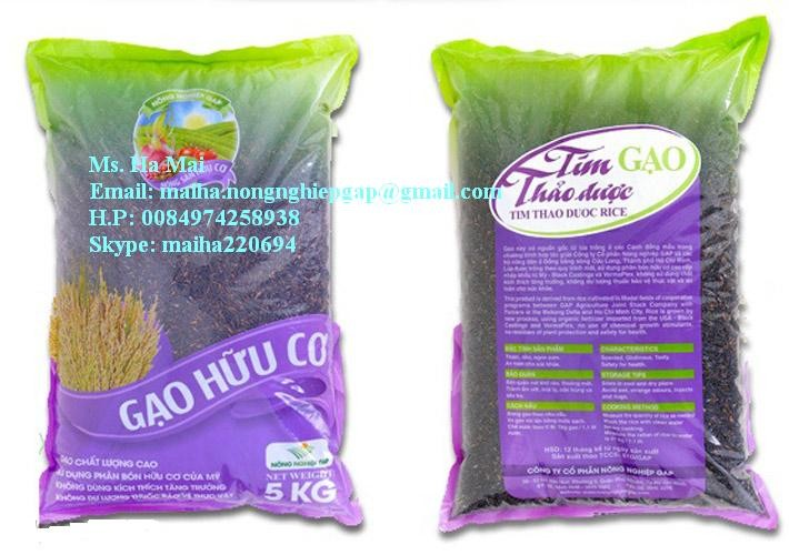 Organic Black Rice Vietnam