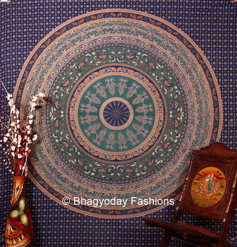 Indian Tapestry Wall Hanging mandala indian tapestry wall hangings throw cotton fabric bedcover