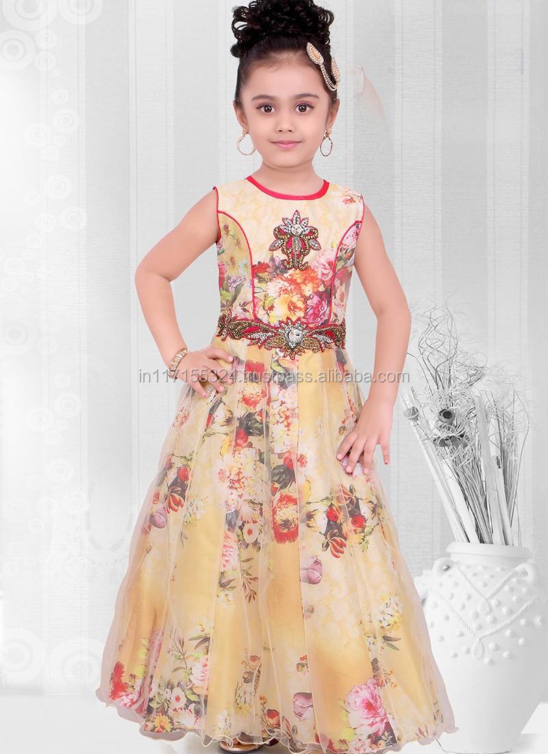 5aac64060329 Wholesale lovely kids wear net summer frock design for baby - Kid party wear  dress -