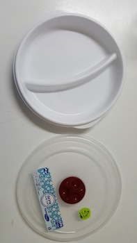 Microwave Hard Plastic Round Divided Plates Bpa Free With Vented