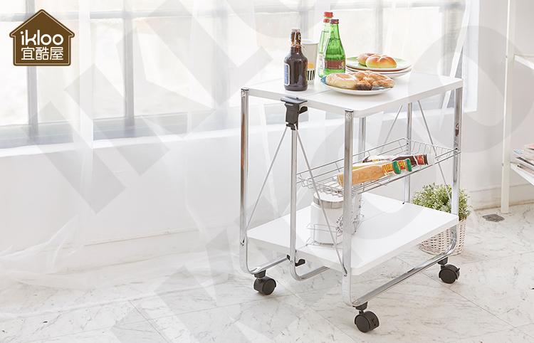 Mobili Da Cucina Bianco Design Pieghevole Cucina Carrello Con Ruote ...