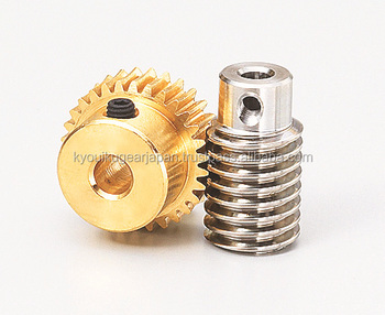 Worm gear pair Module 0.8 Ratio 50 R1 Made in Japan KG STOCK GEARS
