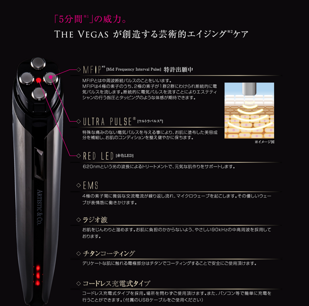 Japanese handheld Facial beauty equipment skin rejuvenation face lifting equipment Dr Arrivo The Vegas