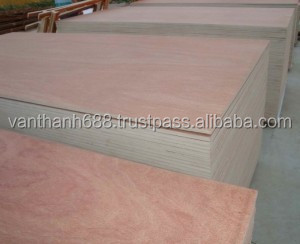 MC 18% MR glue white / reddish Vietnam hardwood face packing plywood