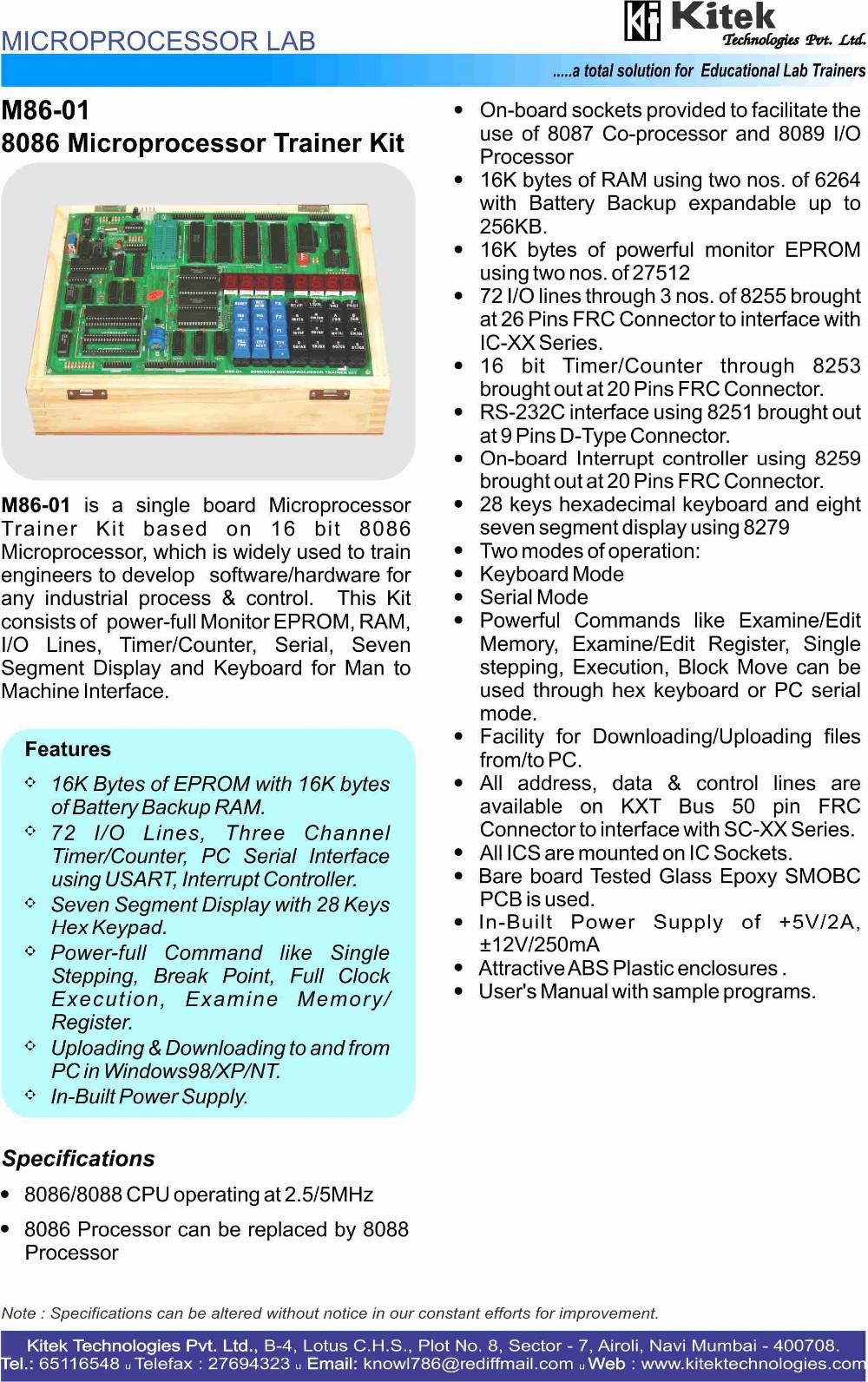 8086 Microprocessor Trainer Kit / 8086 Trainer Kit / Seven Segment Display  8086 Trainer Kit - Buy 8086 Microprocessor Trainer Kit,8086 Trainer