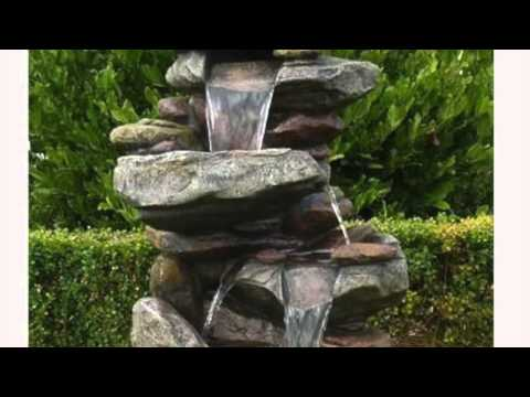 Get Quotations Stone Waterfall Fountain Outdoor Rock Water Feature Garden Patio Yard Home Decor