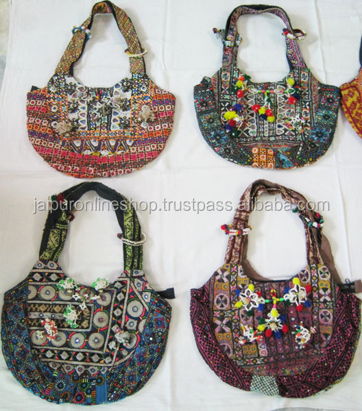 Indo Western Designer Stylish Ethnic Tribal Hobo Gypsy Banjara Clutch Vintage Work Shoulder Bags