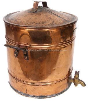 Copper Storage Drum, Copper Water Storage Drum, Decorative Storage Drum