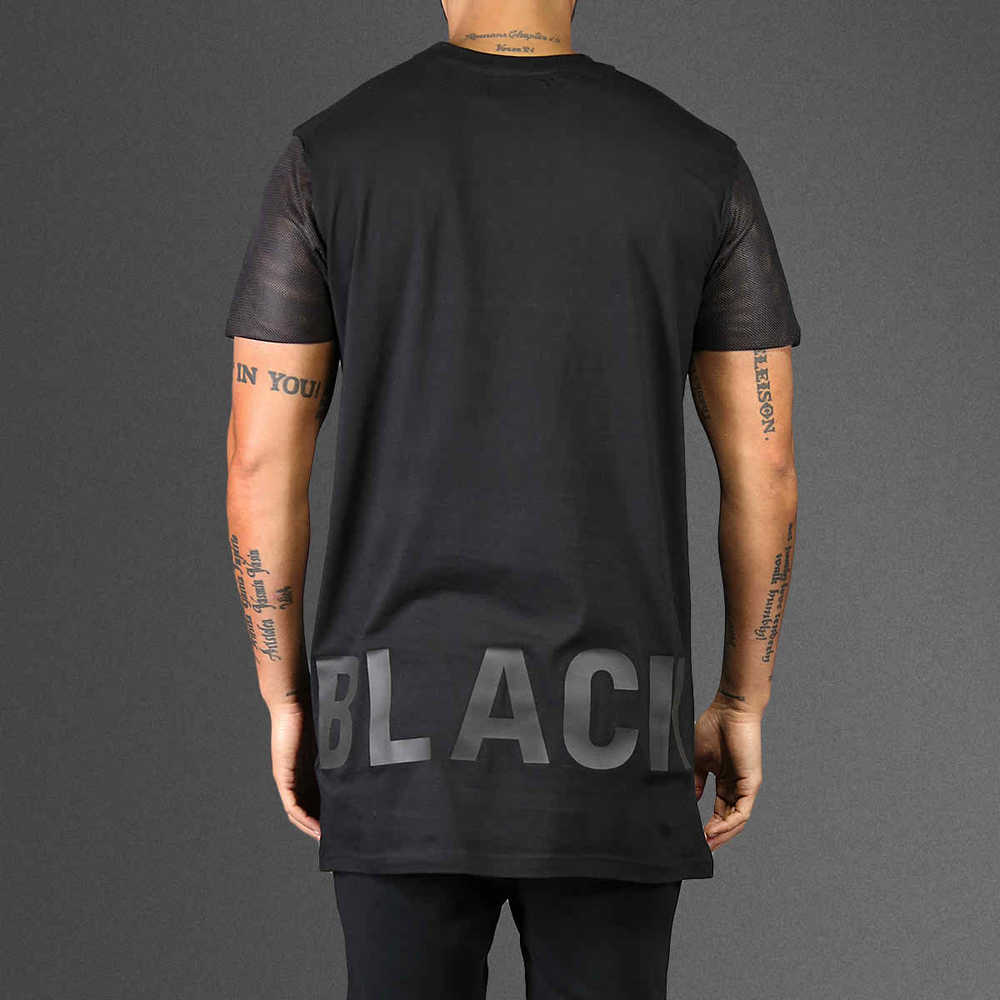 a15c99d0 Extended And Extra Long T Shirt With Side Split And Zipper - Buy ...