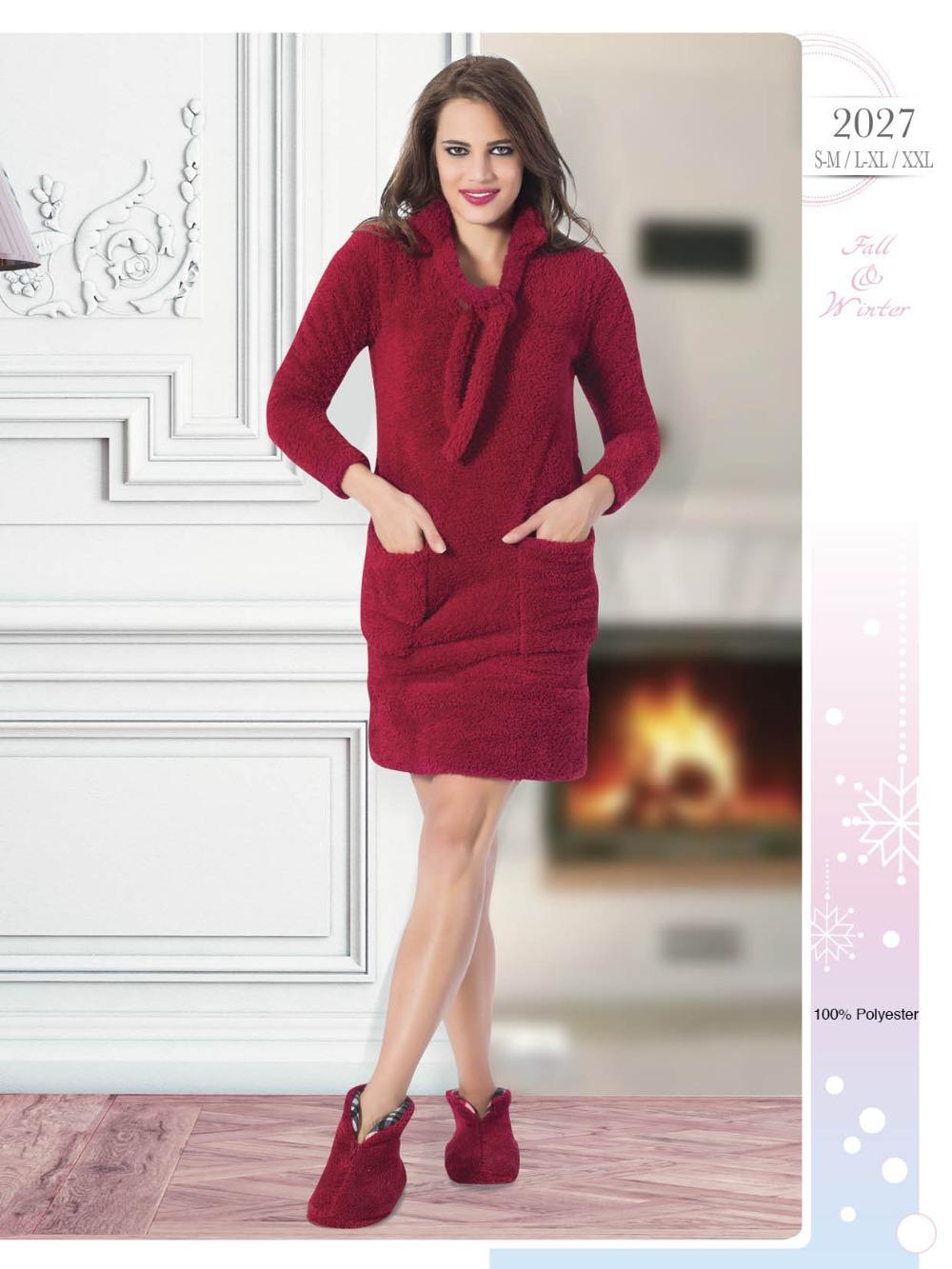 d47df50f85a10 الخريف 2015-- شتاء منامة 2016 جمع التركية، المرأة القطن ملابس نوم، المرأة