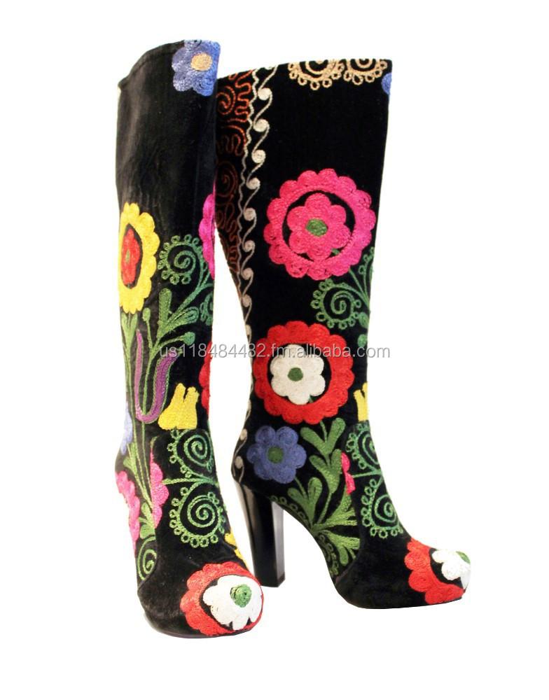 Suzani Knee High Boots