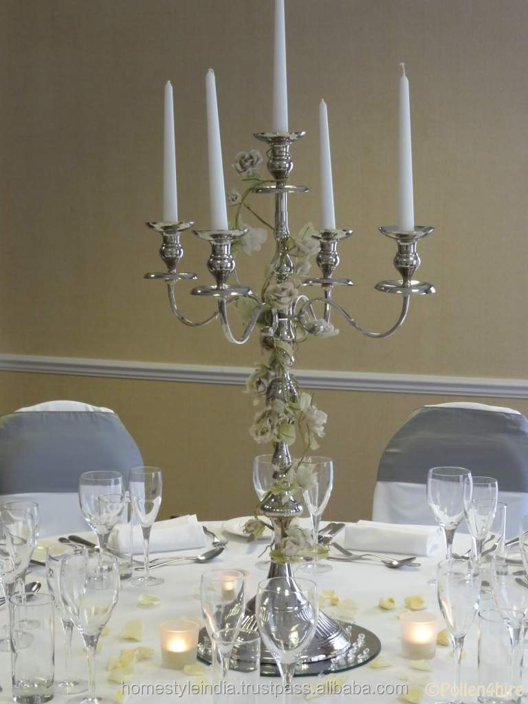 Hot wedding crystal candelabra on sale decorative tall