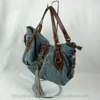 women jean canvas handbag washing stones jeans bags made of cloth tote bag  jeans denim handbags b4c3bd483e41d