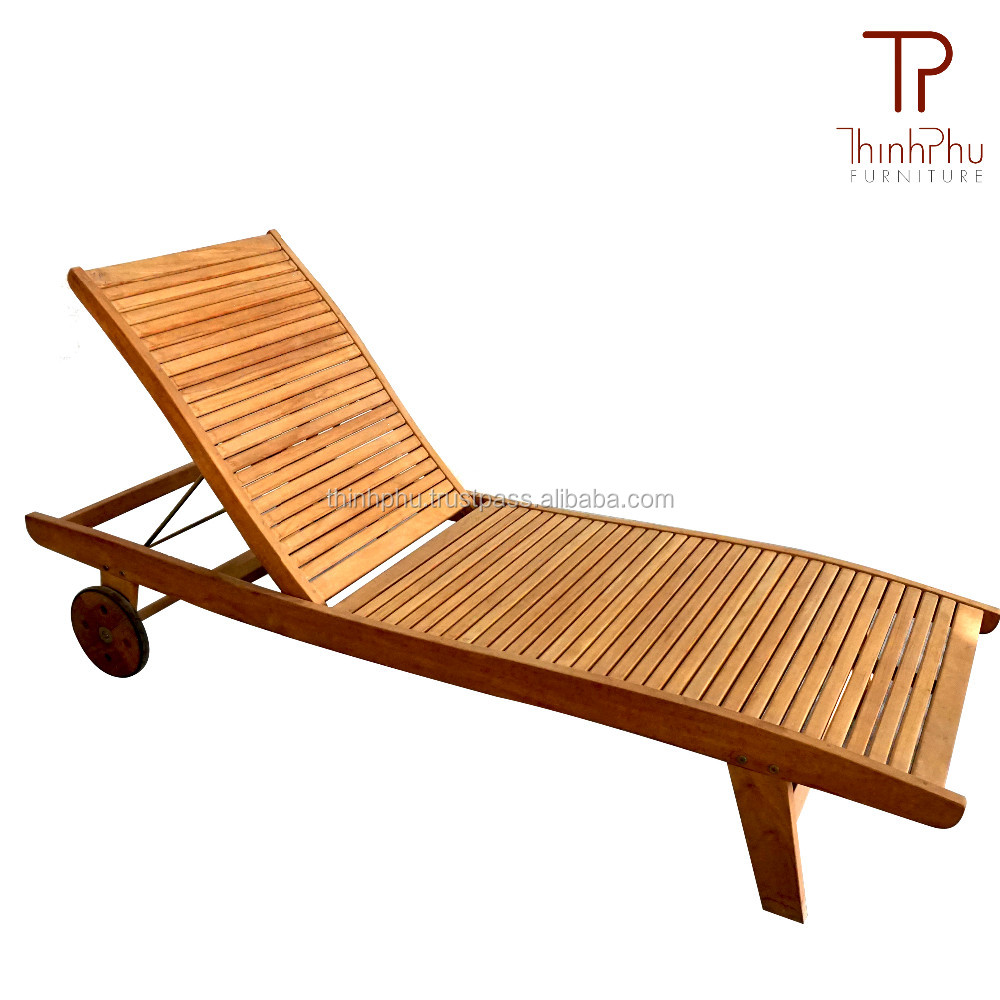 Best price eucalyptus wood sun lounger ohamas vietnam outdoor furniture supplier